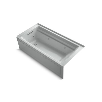 Archer Alcove 72 x 36 Whirpool Bathtub Finish: Ice Grey