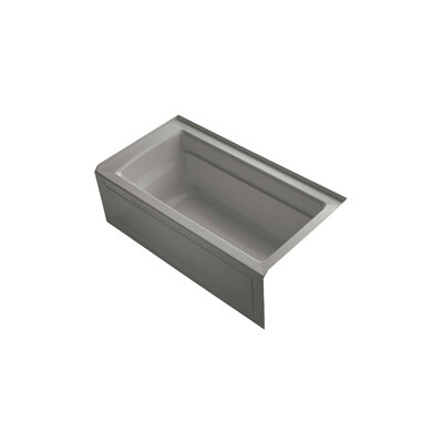 Archer 60 x 32 Soaking Bathtub Finish: Cashmere, Drain Location: Right