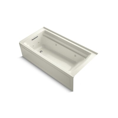 Archer Alcove 72 x 36 Whirpool Bathtub Finish: Biscuit