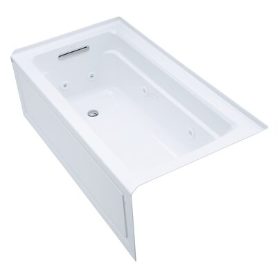 Archer Alcove 60 x 32 Whirpool Bathtub Finish: White