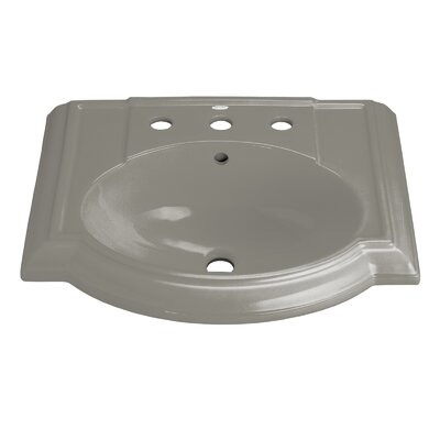 Devonshire� Ceramic 24 Pedestal Bathroom Sink with Overflow Finish: Cashmere