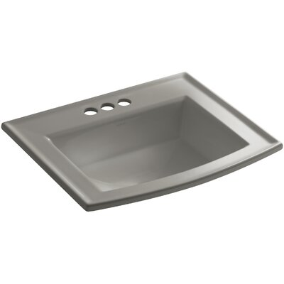 Archer Drop Self Rimming Bathroom Sink 8 Finish: Cashmere, Faucet Hole Style: 8 Widespread