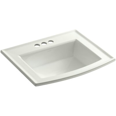 Archer Drop Self Rimming Bathroom Sink 8 Finish: Dune, Faucet Hole Style: Single