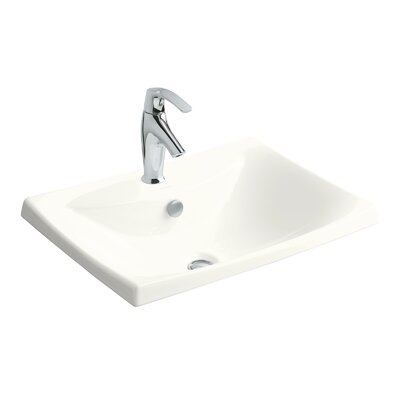 Escale Self Rimming Bathroom Sink Finish: White