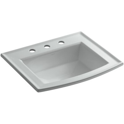 Archer Drop Self Rimming Bathroom Sink 8 Finish: Ice Grey, Faucet Hole Style: 8 Widespread