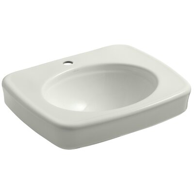 Bancroft� Ceramic 24 Pedestal Bathroom Sink Finish: Dune, Faucet Hole Style: 4 Centerset