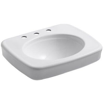 Bancroft� Ceramic 24 Pedestal Bathroom Sink Finish: White