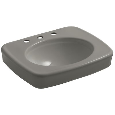 Bancroft 24 Pedestal Bathroom Sink Finish: Cashmere