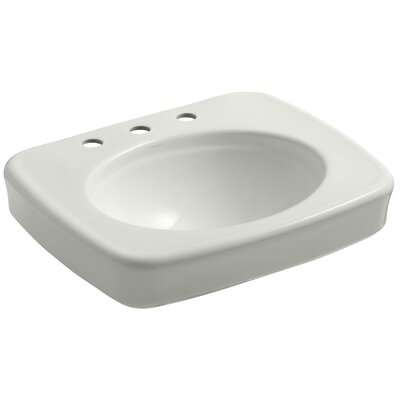 Bancroft� Ceramic 24 Pedestal Bathroom Sink Finish: Dune