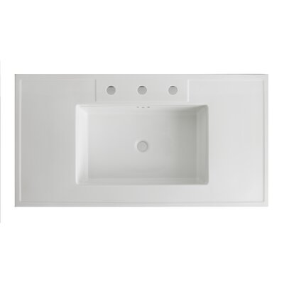 Kathryn� Ceramic 42 Console Bathroom Sink with Overflow Sink Finish: White
