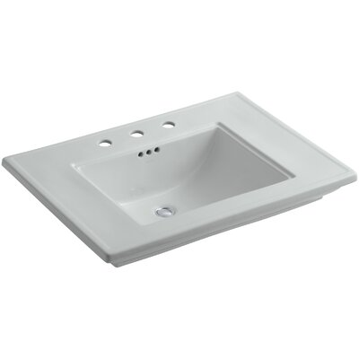 Memoirs� Ceramic Rectangular Undermount Bathroom Sink with Overflow Finish: Ice Grey, Faucet Hole Style: 8 Widespread