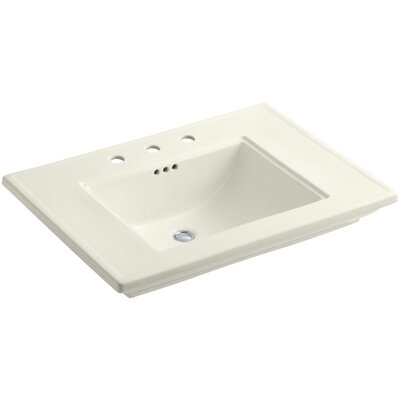 Memoirs Rectangular Undermount Bathroom Sink Finish: Biscuit, Faucet Hole Style: 8 Widespread