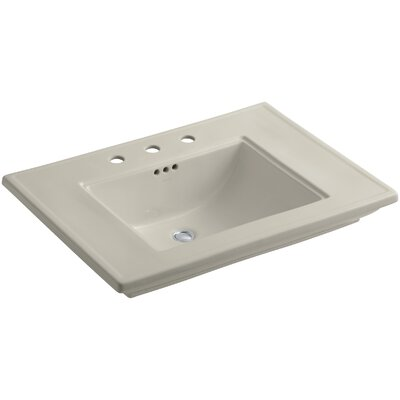 Memoirs Rectangular Undermount Bathroom Sink Finish: Sandbar, Faucet Hole Style: Single