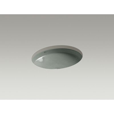 Canvas Metal Oval Undermount Bathroom Sink with Overflow Sink Finish: Basalt
