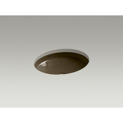 Canvas Oval Undermount Bathroom Sink Sink Finish: Black n Tan