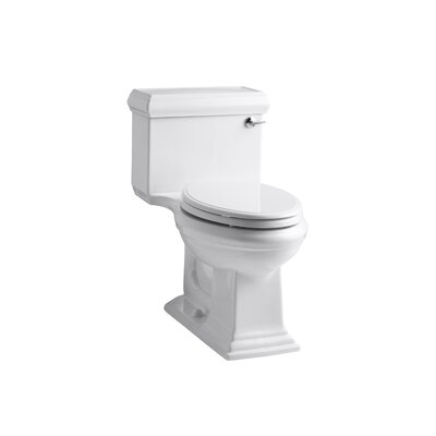 Memoirs Classic Comfort Height One-Piece Elongated 1.28 GPF Toilet with Aquapiston Flush Technology and Right-Hand Trip Lever Finish: White
