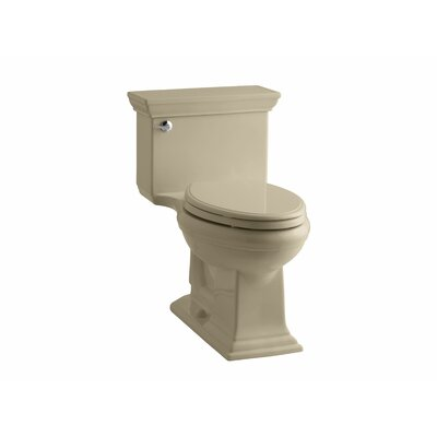 Memoirs Stately Comfort Height One-Piece Elongated 1.28 GPF Toilet with Aquapiston Flush Technology and Left-Hand Trip Lever Finish: Mexican Sand