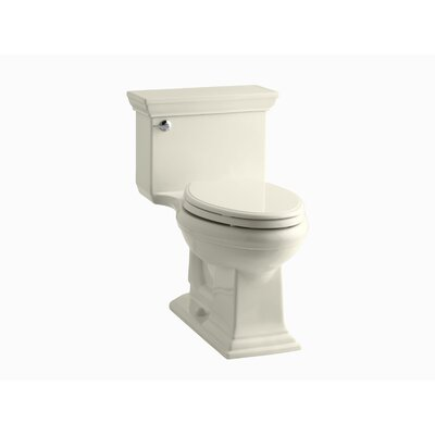 Memoirs Stately Comfort Height One-Piece Elongated 1.28 GPF Toilet with Aquapiston Flush Technology and Left-Hand Trip Lever Finish: Almond