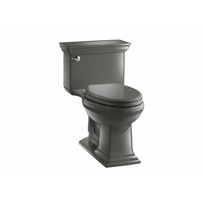 Memoirs Stately Comfort Height One-Piece Elongated 1.28 GPF Toilet with Aquapiston Flush Technology and Left-Hand Trip Lever Finish: Thunder Grey