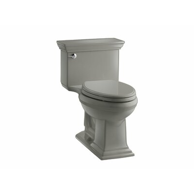 Memoirs Stately Comfort Height One-Piece Elongated 1.28 GPF Toilet with Aquapiston Flush Technology and Left-Hand Trip Lever Finish: Ice Grey