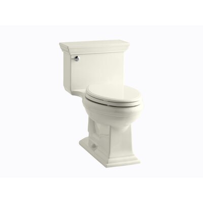 Memoirs Stately Comfort Height One-Piece Elongated 1.28 GPF Toilet with Aquapiston Flush Technology and Left-Hand Trip Lever Finish: Biscuit