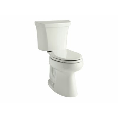 Highline Comfort Height Two-Piece Elongated 1.28 GPF Toilet with Class Five Flush Technology, Right-Hand Trip Lever and Insuliner Tank Liner Finish: White