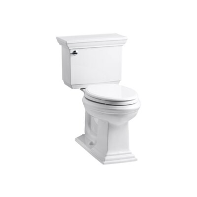 Memoirs Stately Comfort Height Two-Piece Elongated 1.6 GPF Toilet with Aquapiston Flush Technology and Left-Hand Trip Lever Finish: White