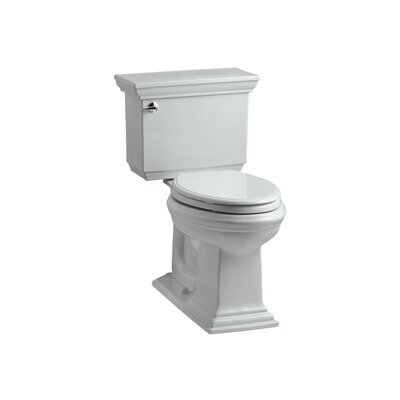 Memoirs Stately Comfort Height Two-Piece Elongated 1.6 GPF Toilet with Aquapiston Flush Technology and Left-Hand Trip Lever Finish: Ice Grey