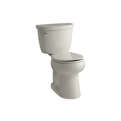 Cimarron Comfort Height 2 Piece Round-Front 1.28 GPF Toilet with Aquapiston Flush Technology and Left-Hand Trip Lever Finish: Sandbar