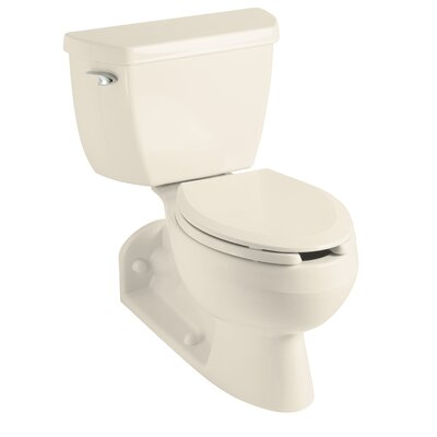 Barrington Two-Piece Elongated 1.6 GPF Toilet with Pressure Lite Flushing Technology and Left-Hand Trip Lever Finish: Almond
