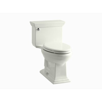 Memoirs Stately Comfort Height One-Piece Elongated 1.28 GPF Toilet with Aquapiston Flush Technology and Left-Hand Trip Lever Finish: Dune