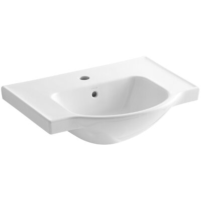 Veer Ceramic 24 Pedestal Bathroom Sink with Overflow Finish: White, Faucet Hole Style: 8 Widespread