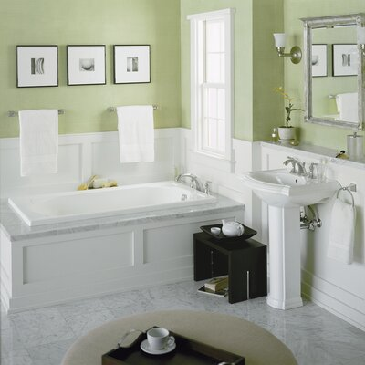 Devonshire 60 x 32 Whirlpool Bathtub Finish: White