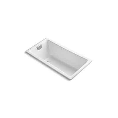 Tea for Two 60 x 32 Soaking Bathtub Finish: White