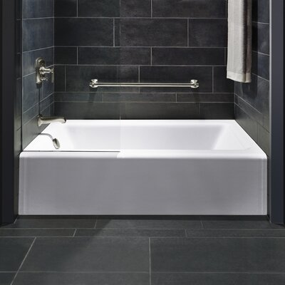 Bellwether Alcove 60 x 32 Soaking Bathtub Finish: White