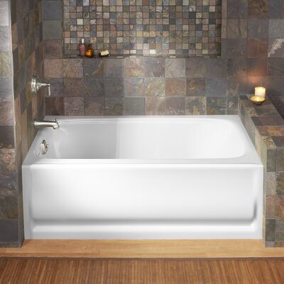 Bancroft Alcove 60 x 32 Soaking Bathtub Finish: White