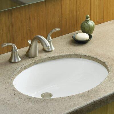 Caxton Oval Undermount Bathroom Sink with Overflow Finish: White, Glazed Underside: No