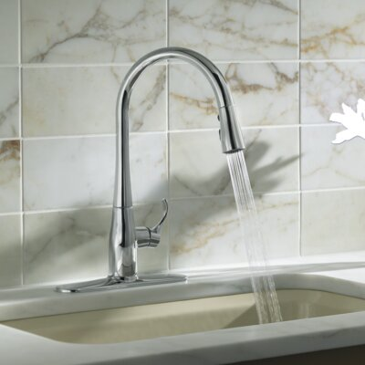 Simplice Kitchen Sink Faucet with 16-5/8 Pull-Down Spout Finish: Polished Chrome