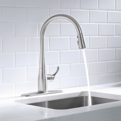 Simplice Kitchen Sink Faucet with 16-5/8 Pull-Down Spout Finish: Vibrant Stainless