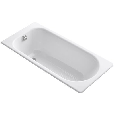Soissons 59 x 27.5 Drop-in Bathtub Finish: White