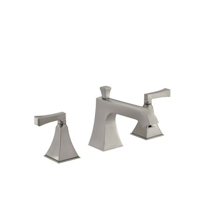 Memoirs Stately Deck-Mount Bath Faucet Trim for High-Flow Valve with Diverter Spout and Deco Lever Handles, Valve Not Included Finish: Vibrant Brushed Nickel