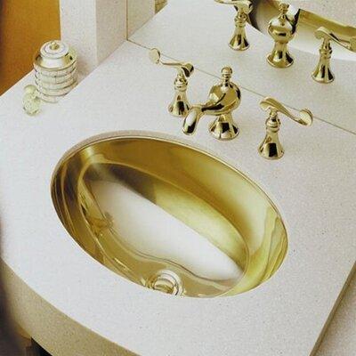 Rhythm Oval Undermount Bathroom Sink Sink Finish: Mirror French Gold