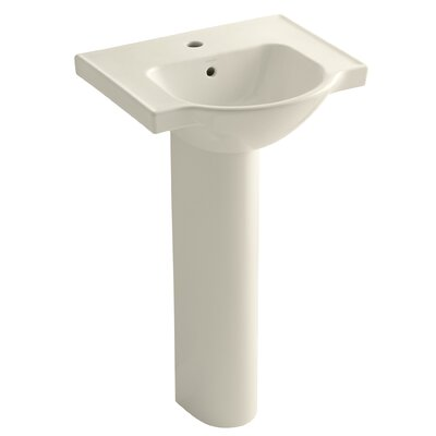 Kohler Veer 36 Pedestal Bathroom Sink with Overflow Finish: Almond