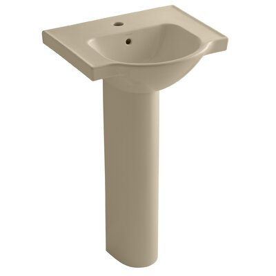 Kohler Veer 36 Pedestal Bathroom Sink with Overflow Finish: Mexican Sand
