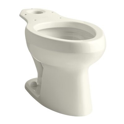Wellworth Toilet Bowl with Pressure Lite Flushing Technology, Less Seat Finish: Biscuit