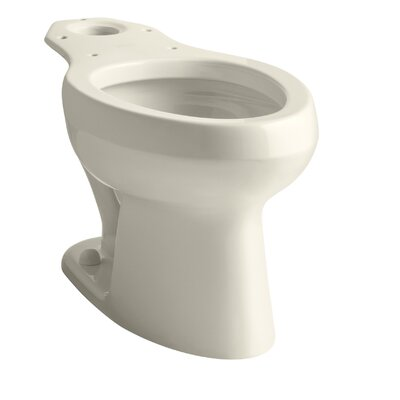 Wellworth Toilet Bowl with Pressure Lite Flushing Technology, Less Seat Finish: Almond