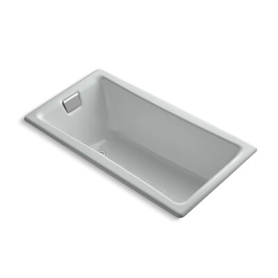 Tea for Two 60 x 32 Soaking Bathtub Finish: Ice Grey