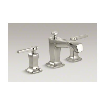 Margaux Widespread Double Handle Bathroom Faucet with Drain Assembly Finish: Vibrant Polished Nickel