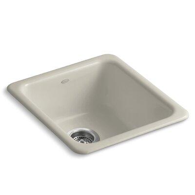 Iron/Tones 17 x 18-3/4 x 8-1/4 Top-Mount/Under-Mount Single-Bowl Kitchen Sink Finish: Sandbar