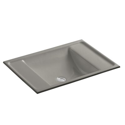 Alteo Metal Rectangular Undermount Bathroom Sink with Overflow Sink Finish: Black n Tan